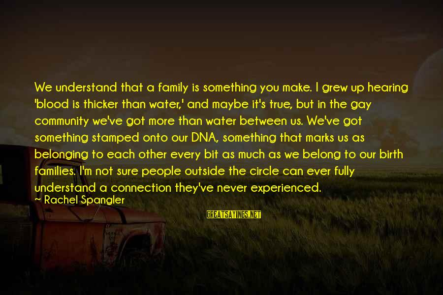 True Blood Family Sayings By Rachel Spangler: We understand that a family is something you make. I grew up hearing 'blood is