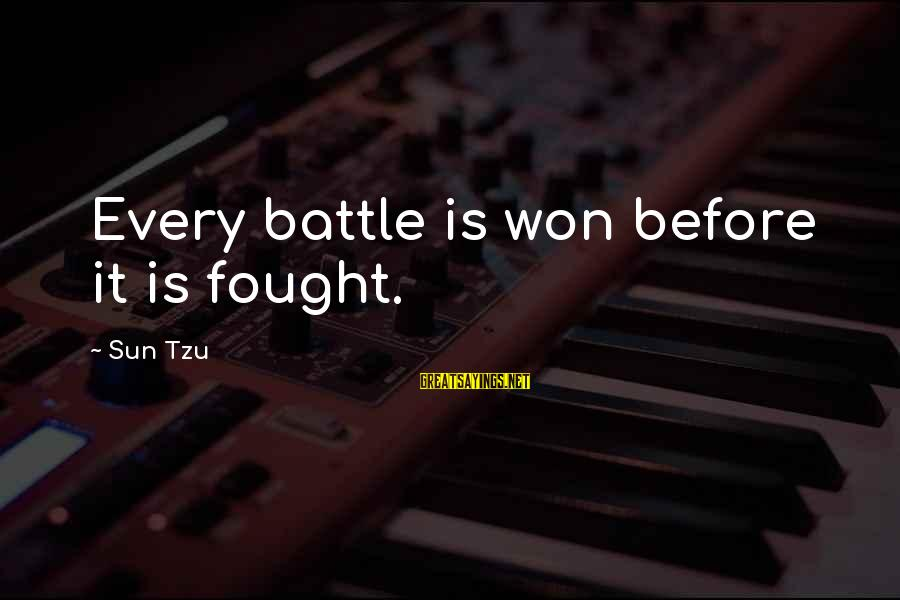 Twin Announcement Sayings By Sun Tzu: Every battle is won before it is fought.