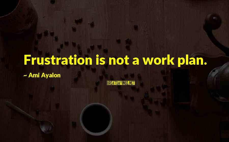 Un Ami Sayings By Ami Ayalon: Frustration is not a work plan.