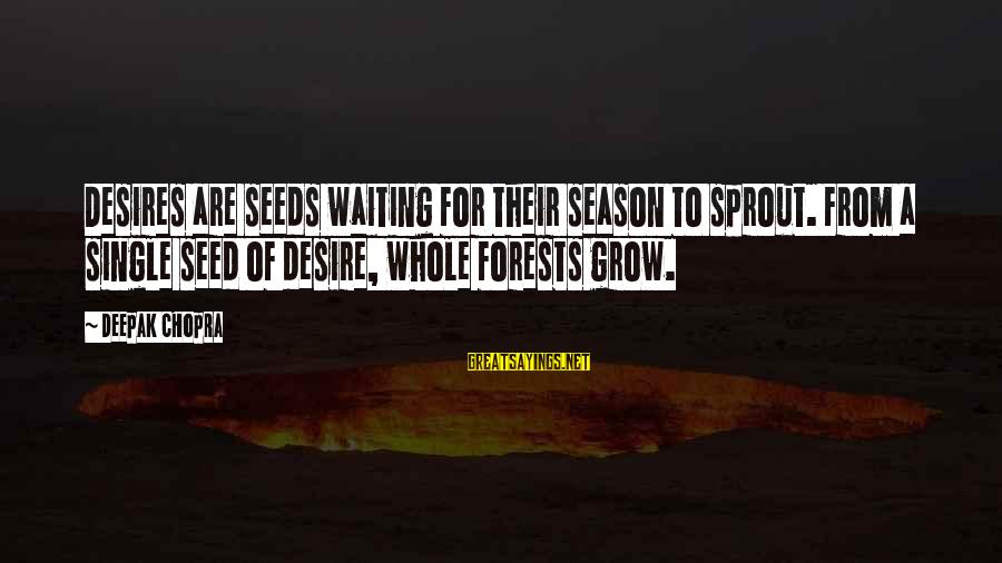 Undrawn Sayings By Deepak Chopra: Desires are seeds waiting for their season to sprout. From a single seed of desire,