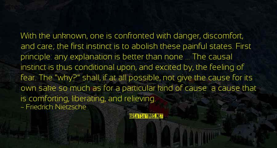 Unknown Feelings Sayings By Friedrich Nietzsche: With the unknown, one is confronted with danger, discomfort, and care; the first instinct is