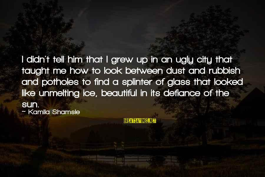 Unmelting Sayings By Kamila Shamsie: I didn't tell him that I grew up in an ugly city that taught me