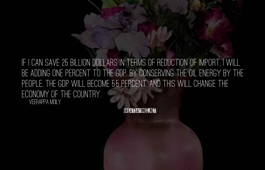 Veerappa Moily Sayings: If I can save 25 billion dollars in terms of reduction of import, I will