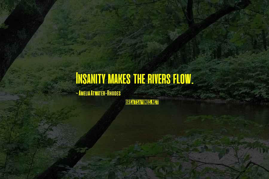 Victoria Grayson Sayings By Amelia Atwater-Rhodes: Insanity makes the rivers flow.