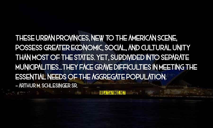 Victoria Grayson Sayings By Arthur M. Schlesinger Sr.: These urban provinces, new to the American scene, possess greater economic, social, and cultural unity