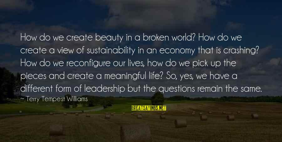 Views Of The World Sayings By Terry Tempest Williams: How do we create beauty in a broken world? How do we create a view