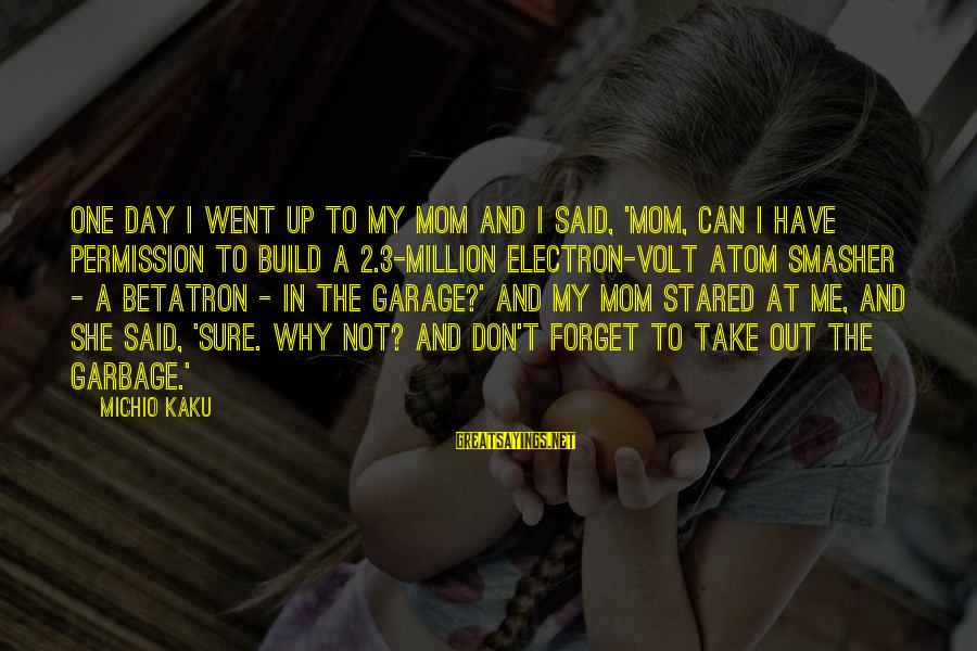 Volt Sayings By Michio Kaku: One day I went up to my mom and I said, 'Mom, can I have