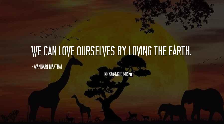 Wangari Maathai Sayings: We can love ourselves by loving the earth.
