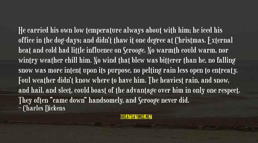 Warm Temperature Sayings By Charles Dickens: He carried his own low temperature always about with him; he iced his office in