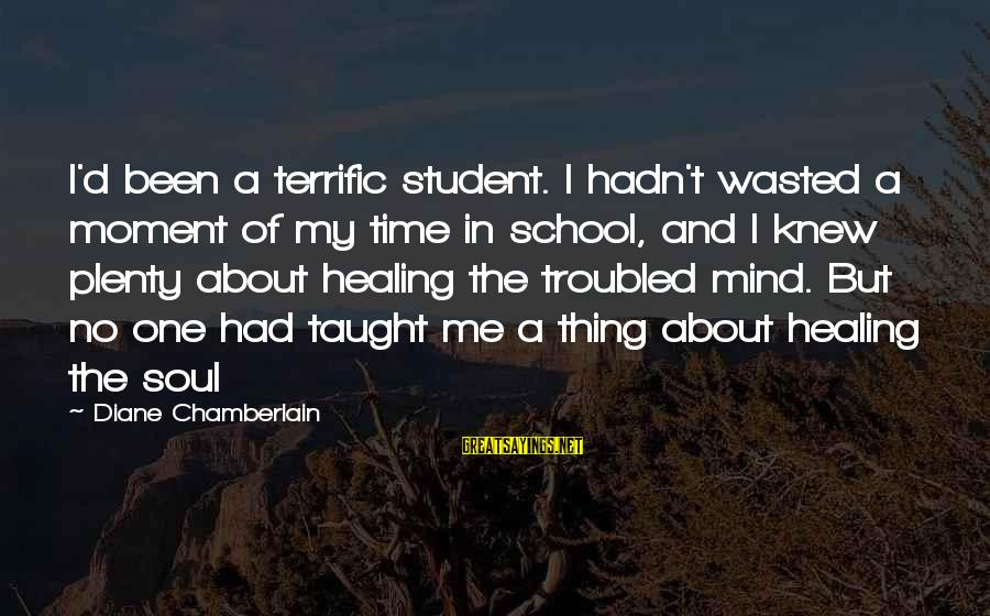 Wasted Time Sayings By Diane Chamberlain: I'd been a terrific student. I hadn't wasted a moment of my time in school,