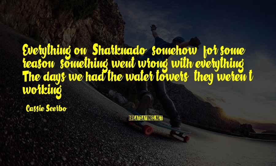 Water Towers Sayings By Cassie Scerbo: Everything on 'Sharknado' somehow, for some reason, something went wrong with everything. The days we