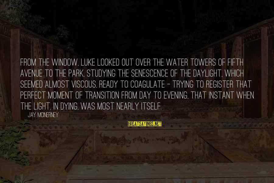 Water Towers Sayings By Jay McInerney: From the window, Luke looked out over the water towers of Fifth Avenue to the