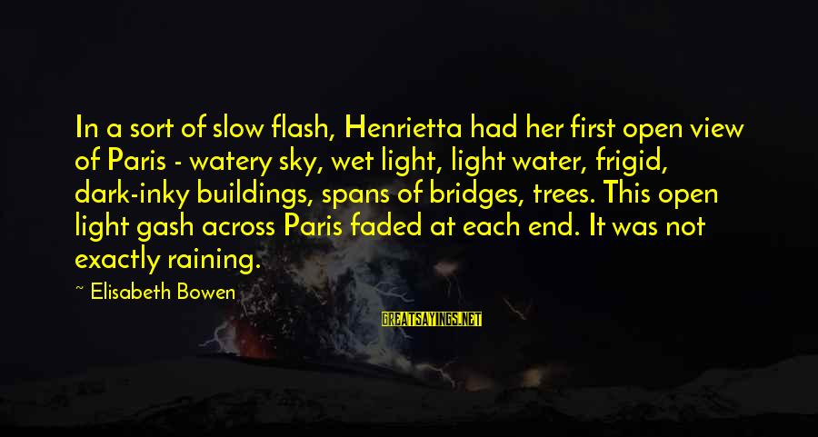 Water View Sayings By Elisabeth Bowen: In a sort of slow flash, Henrietta had her first open view of Paris -