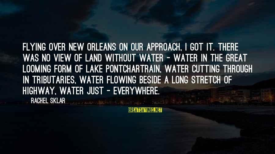 Water View Sayings By Rachel Sklar: Flying over New Orleans on our approach, I got it. There was no view of
