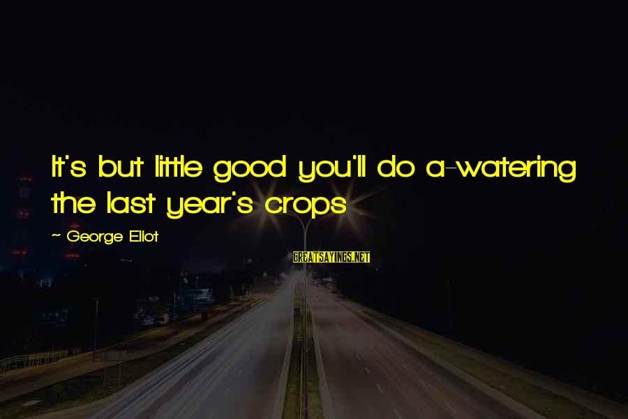 Watering Sayings By George Eliot: It's but little good you'll do a-watering the last year's crops