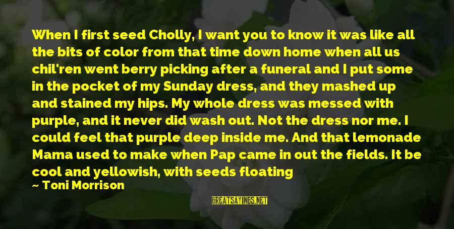 We Did It Together Sayings By Toni Morrison: When I first seed Cholly, I want you to know it was like all the