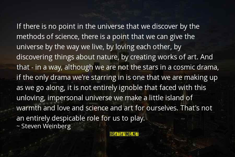 Weinberg Steven Sayings By Steven Weinberg: If there is no point in the universe that we discover by the methods of