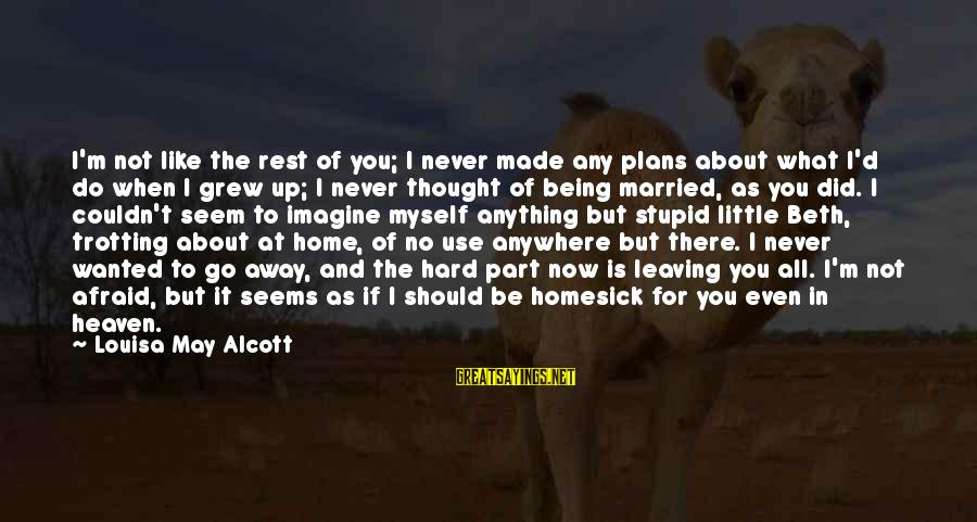 What If I Like You Sayings By Louisa May Alcott: I'm not like the rest of you; I never made any plans about what I'd