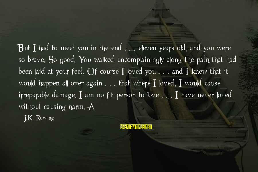Where You Have Been Sayings By J.K. Rowling: But I had to meet you in the end . . . eleven years old,