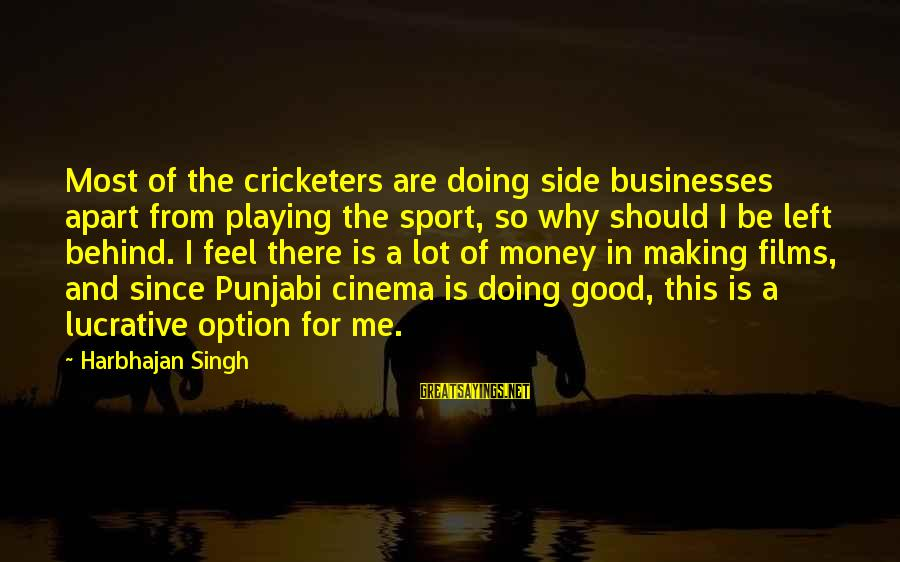 Why Sports Are Good Sayings By Harbhajan Singh: Most of the cricketers are doing side businesses apart from playing the sport, so why