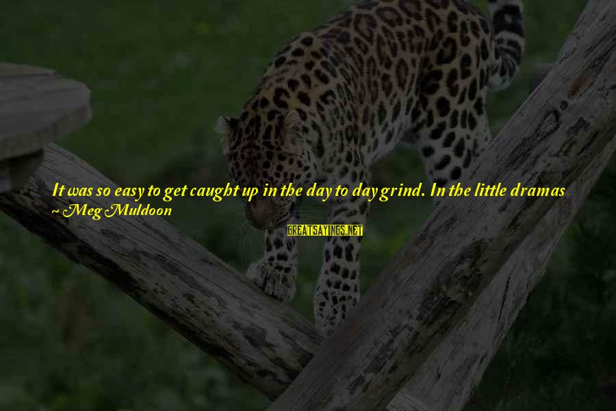 Will Tippin Sayings By Meg Muldoon: It was so easy to get caught up in the day to day grind. In