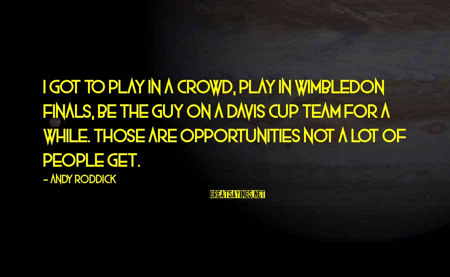 Wimbledon's Sayings By Andy Roddick: I got to play in a crowd, play in Wimbledon finals, be the guy on
