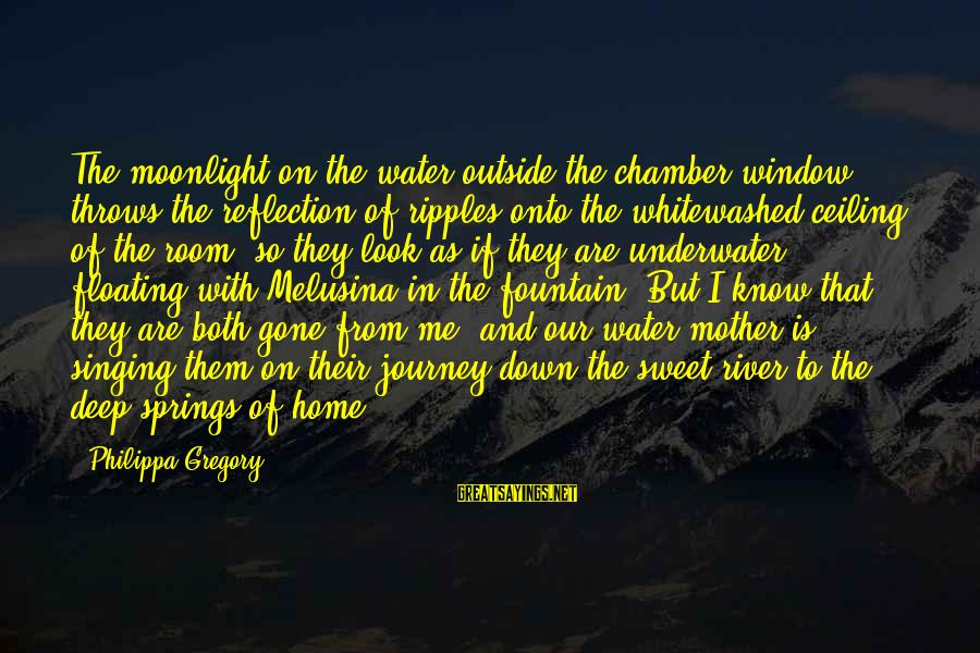 Window Reflection Sayings By Philippa Gregory: The moonlight on the water outside the chamber window throws the reflection of ripples onto