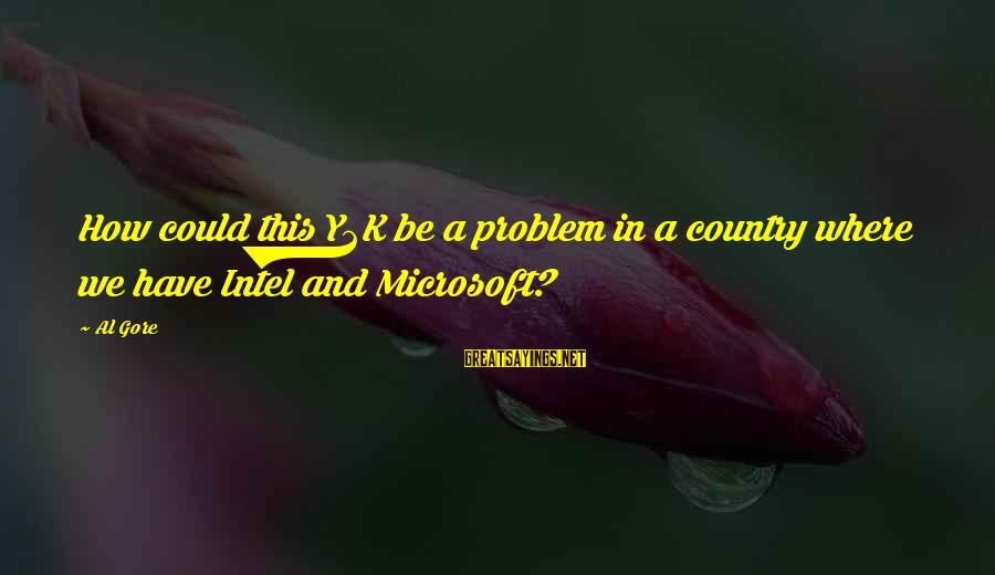 Y2k Sayings By Al Gore: How could this Y2K be a problem in a country where we have Intel and