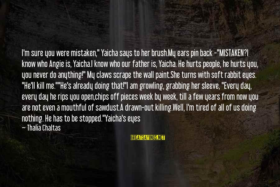 """You Can Never Have Him Sayings By Thalia Chaltas: I'm sure you were mistaken,"""" Yaicha says to her brush.My ears pin back -""""MISTAKEN?I know"""