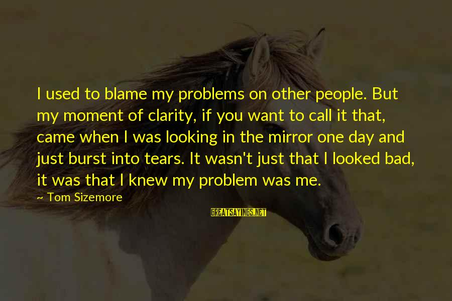 You Used To Want Me Sayings By Tom Sizemore: I used to blame my problems on other people. But my moment of clarity, if