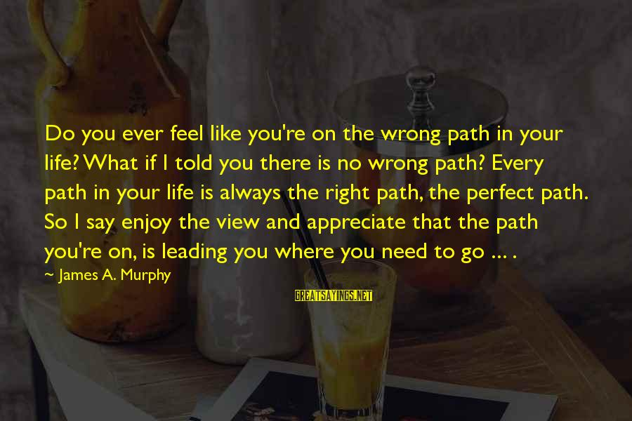 You're Always Wrong Sayings By James A. Murphy: Do you ever feel like you're on the wrong path in your life? What if