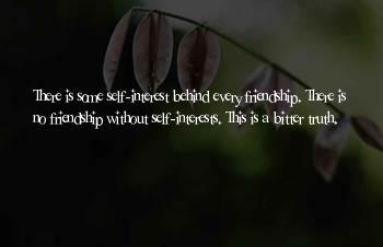 Bitter Friendship Sayings
