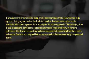 Hendler Sayings