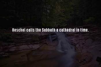 Heschel Sabbath Sayings