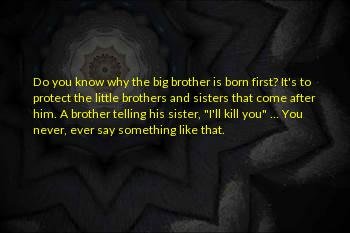Little Brothers From A Big Sister Sayings