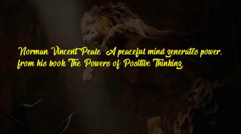 Power Of Positive Thinking Book Sayings